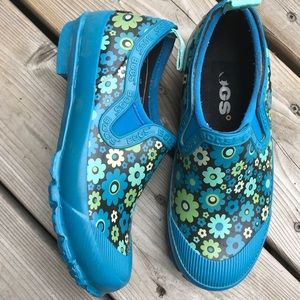 Bogs Waterproof Rubber Short Boots Shoes Floral